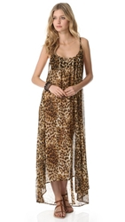 9Seed Tulum Cover Up Maxi Dress Leopard