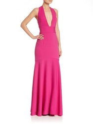 Milly Italian Cady Penelope Gown Fuchsia