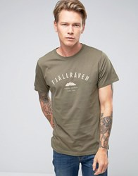 Fjall Raven Fjallraven T Shirt With Trekking Equipment Print In Green Tarmac