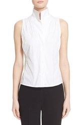 Women's Armani Collezioni Sleeveless Cotton Poplin Blouse