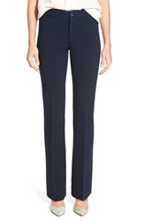 Nydj Petite Women's 'Michelle' Stretch Ponte Trousers Night Fall
