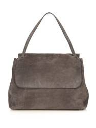 The Row Suede Shoulder Bag Grey