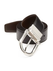 Ermenegildo Zegna Reversible Leather Belt Black