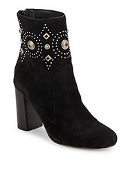 Sigerson Morrison Leather Round Toe Ankle Boots Black