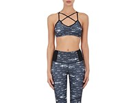 Electric And Rose Women's Abstract Print Sports Bra Grey