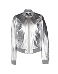 Blk Dnm Jackets Silver