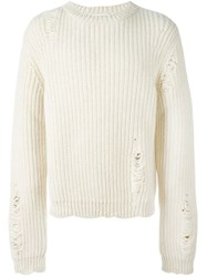J.W.Anderson J.W. Anderson Distressed Ribbed Jumper Nude And Neutrals