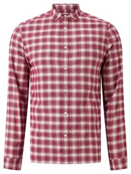 John Lewis Kin By Ombre Check Shirt Wine