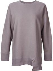 Astraet Asymmetric Sweatshirt Grey