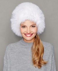 The Fur Vault Fox Fur Hat White