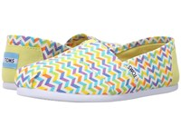 Toms Seasonal Classics Multi Canvas Chevron Women's Slip On Shoes