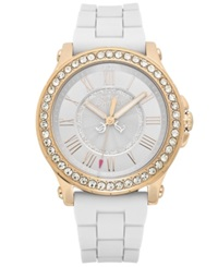 Juicy Couture Watch Women's Pedigree White Silicone Strap 38Mm 1901052