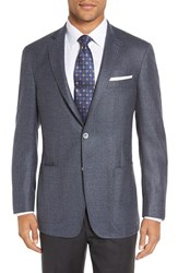 Hart Schaffner Marx Men's Big And Tall Classic Fit Wool And Cashmere Blazer Medium Blue
