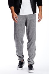 Quinn Carlyle Cashmere And Genuine Leather Jogger Gray