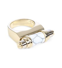 Givenchy Obsedia Marble Effect Ring Gold