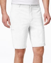Tasso Elba Men's Cargo Shorts Only At Macy's White Pure