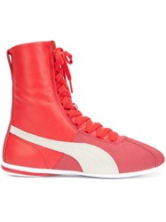 Puma Lace Up Hi Top Sneakers Red