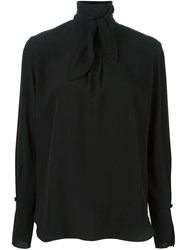 Chloe Neck Tie Blouse Black