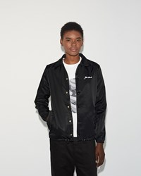 Julien David Nylon Snap Jacket Black