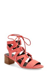 Women's Rebecca Minkoff 'Issa' Lace Up Sandal Bright Coral