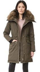 Soia And Kyo Angelie Parka With Fur Moss