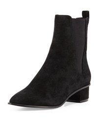Ash Mira Suede Pointed Toe Bootie Black