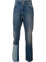Maison Martin Margiela Patch Work Slim Fit Jeans Blue