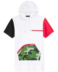 Hudson Outerwear Outwear Men's Colorblock Graphic Print Hoodie T Shirt White