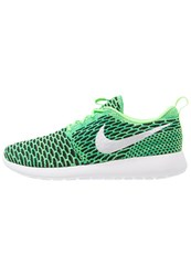 Nike Sportswear Roshe One Flyknit Trainers Voltage Green White Lucid Green Neon Green