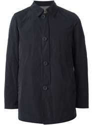 Herno Button Fastened Trench Coat Blue