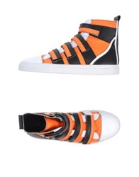 Les Hommes High Tops And Trainers Orange