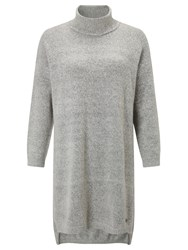 Numph Lukene Side Split Jumper Grey Melange