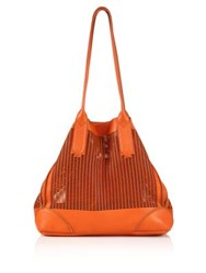 Linea Pelle Preston Large Leather Tote Coral