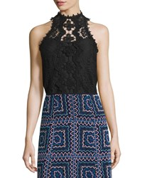 Nanette Lepore Sleeveless Lace Top Ivory