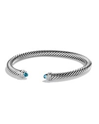 Cable Classics Bracelet With Blue Topaz And Diamonds David Yurman
