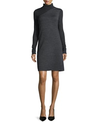 Theory Tajello Patterned Knit Long Sleeve Turtleneck Dress