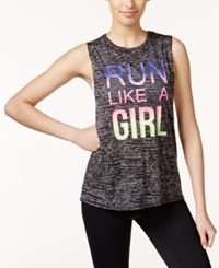 Ideology Graphic Muscle Tank Top Only At Macy's Charcoal Heather