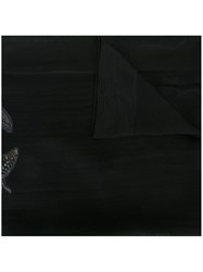 Alexander Mcqueen Butterfly Embroidered Scarf Black