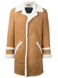 Marc Jacobs Shearling Coat Nude And Neutrals
