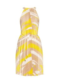 Max Mara Danzica Dress Yellow Print