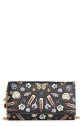 Women's Alexander Mcqueen 'Obsession' Large Leather Wallet On A Chain
