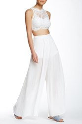 Endless Rose Plisse Pleated Pant White