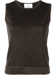 Allude Knit Tank Top Black