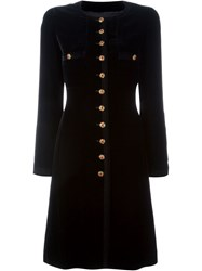 Chanel Vintage Velvet Buttoned Dress Black