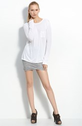 Women's T By Alexander Wang Long Sleeve Pocket Tee White