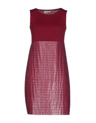 Niu' Dresses Short Dresses Women Garnet
