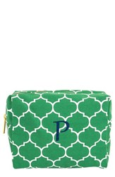 Cathy's Concepts Monogram Cosmetics Case Green P