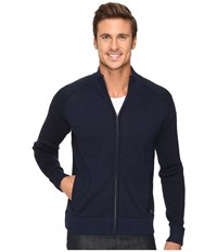 Smartwool Pioneer Ridge Full Zip Top Deep Navy Heather Men's Sweater