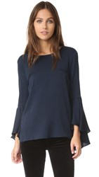 Milly Bell Sleeve Top Navy