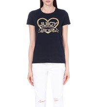 Juicy Couture Love Glam Cotton Jersey T Shirt Regal